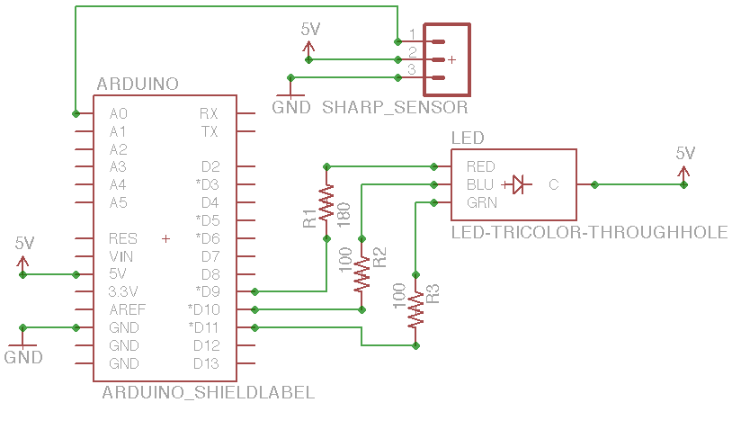 sharp ir sensors arduino tekstop schematic eagle
