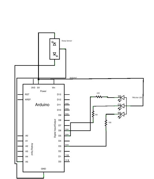 sharp ir sensors with arduino